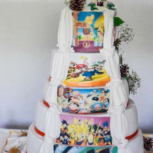 Wedding cake  avec double face